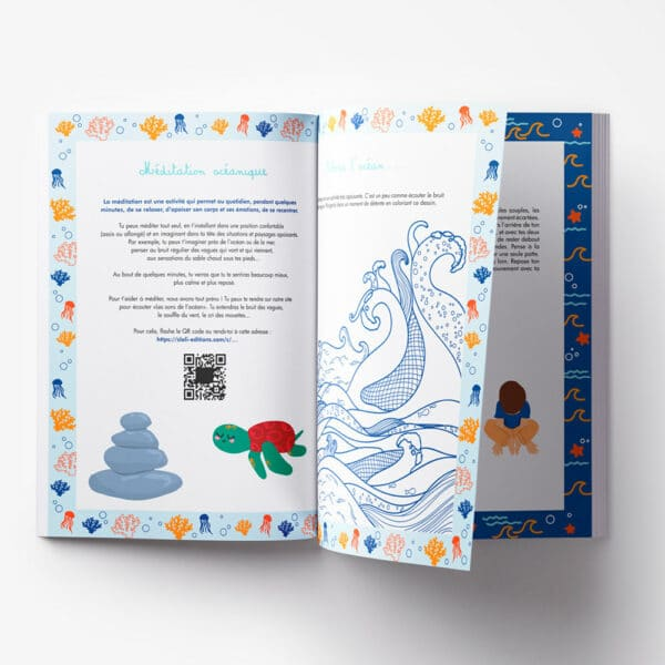 Cahier de vacances original sur l'océan