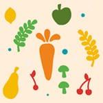 Motif du jeu GO les végétaux
