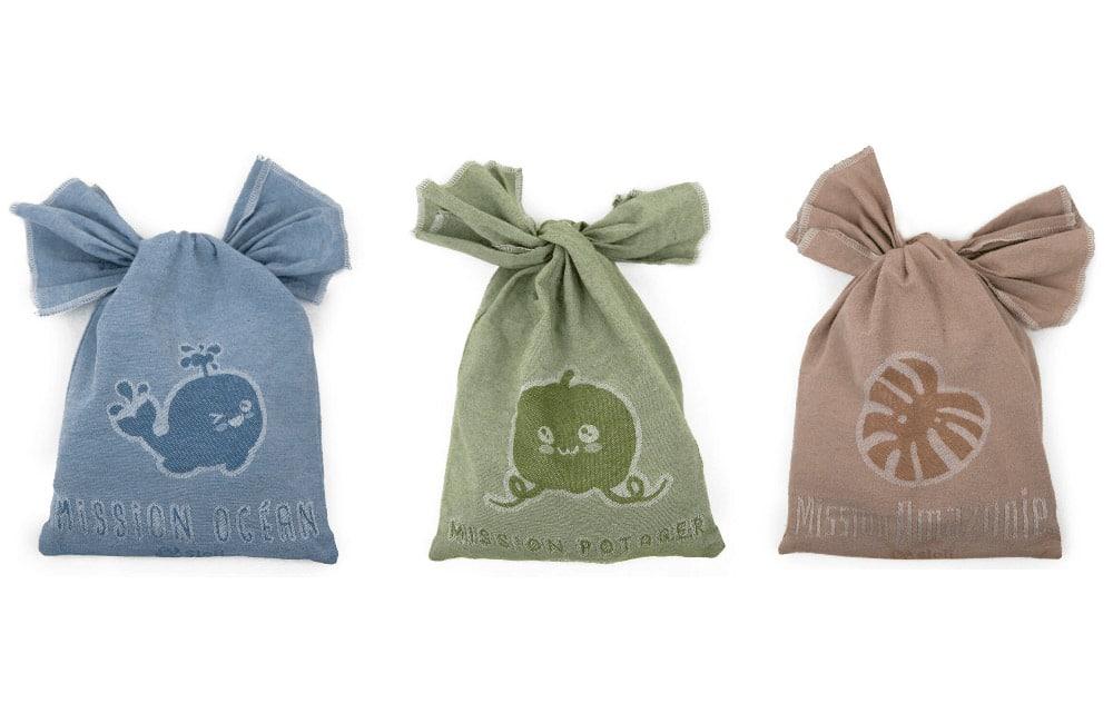 Pochons de jeux zéro déchet en coton recyclé