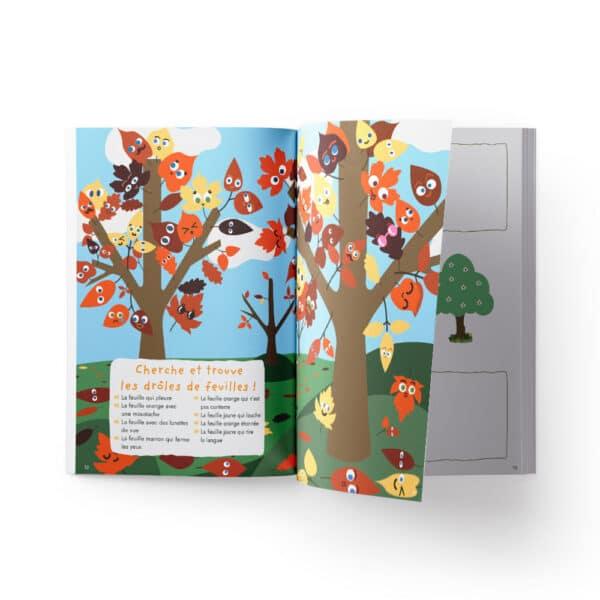 Cahier de vacances pour enfants sur les arbres