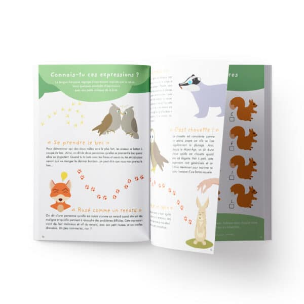 Carnet d'activités sur les animaux de la forêt