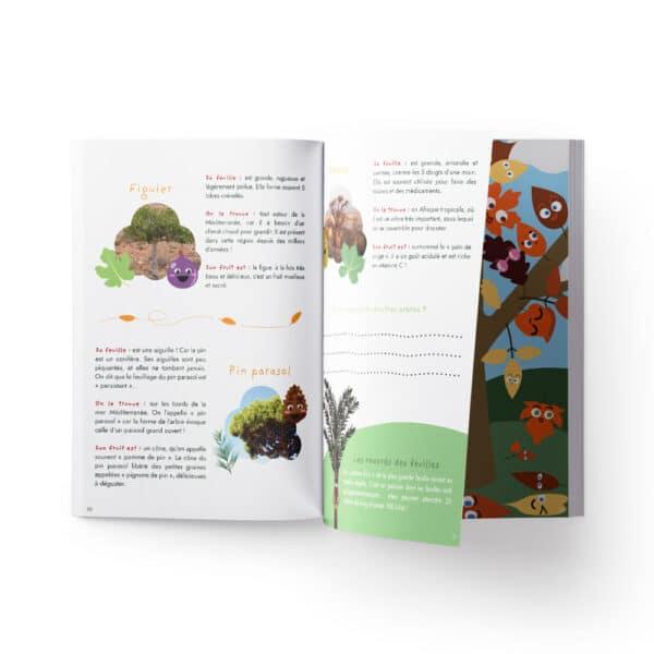 Activités enfants avec des feuilles d'arbres