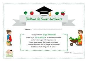 Diplôme de Super Jardinière