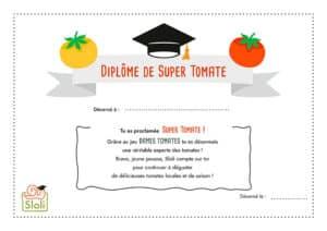 Diplôme de Super Tomate